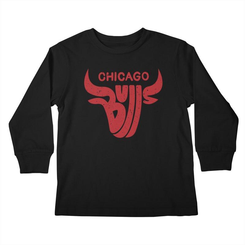 Bulls (Red) Kids Longsleeve T-Shirt by 5eth's Artist Shop