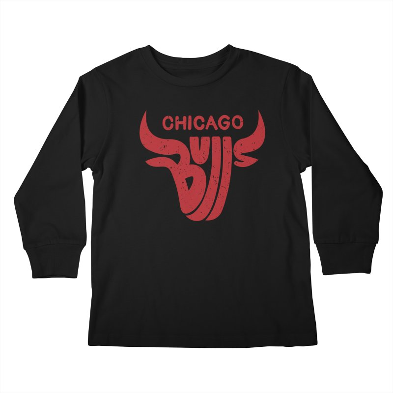 Bulls (Red) Kids Longsleeve T-Shirt by 5eth's Artist Shop
