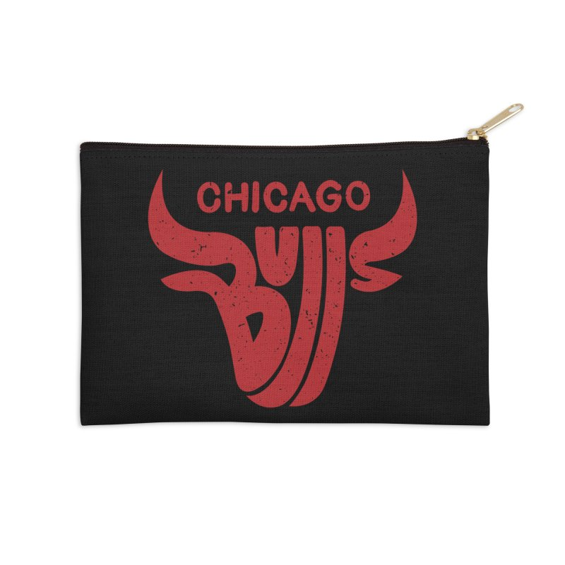 Bulls (Red) Accessories Zip Pouch by 5eth's Artist Shop