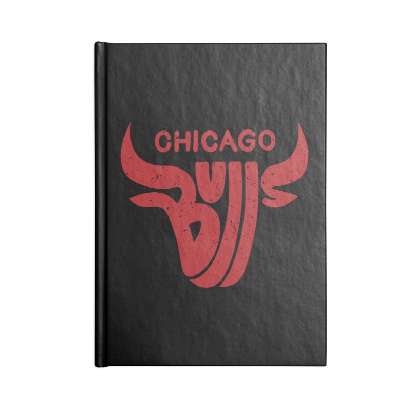 Bulls (Red) Accessories Blank Journal Notebook by 5eth's Artist Shop