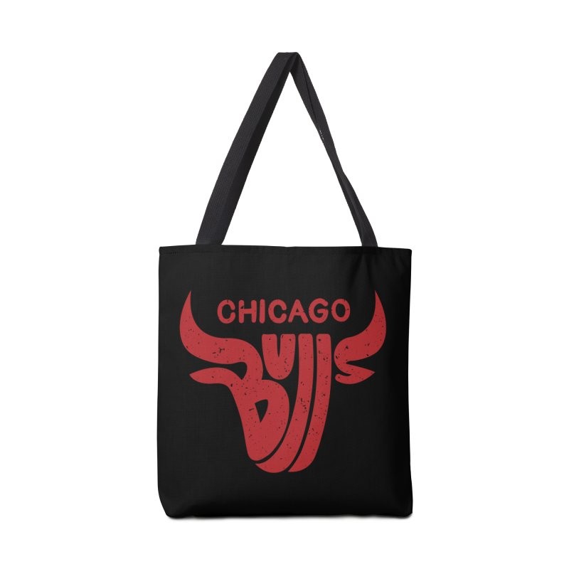 Bulls (Red) Accessories Bag by 5eth's Artist Shop