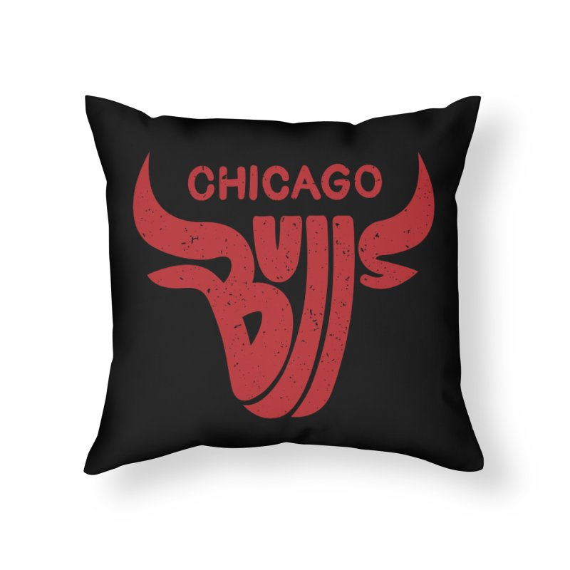 Bulls (Red) Home Throw Pillow by 5eth's Artist Shop