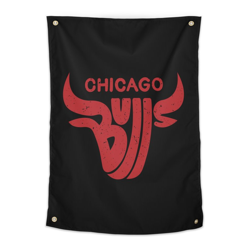 Bulls (Red) Home Tapestry by 5eth's Artist Shop
