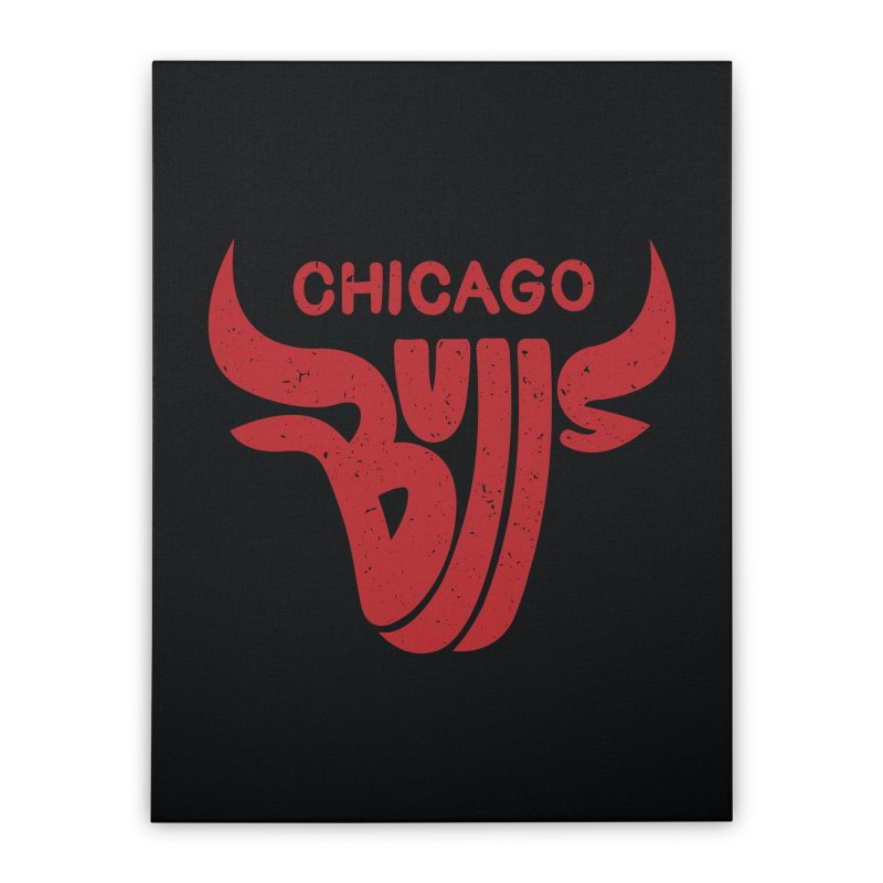Bulls (Red) Home Stretched Canvas by 5eth's Artist Shop