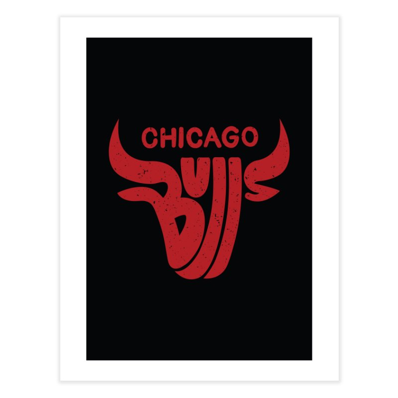 Bulls (Red) Home Fine Art Print by 5eth's Artist Shop