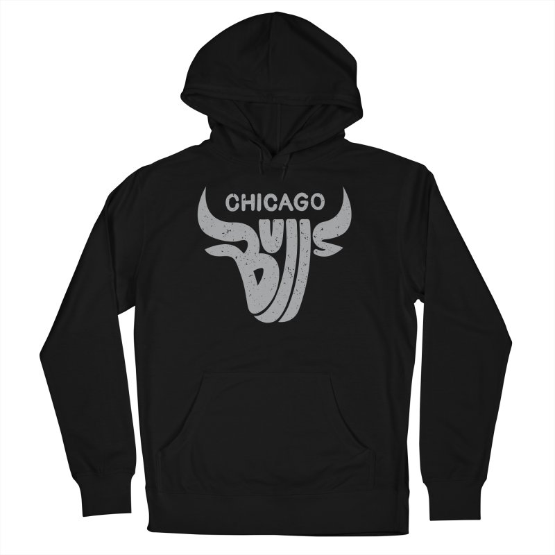 Bulls (Grey) Men's French Terry Pullover Hoody by 5eth's Artist Shop
