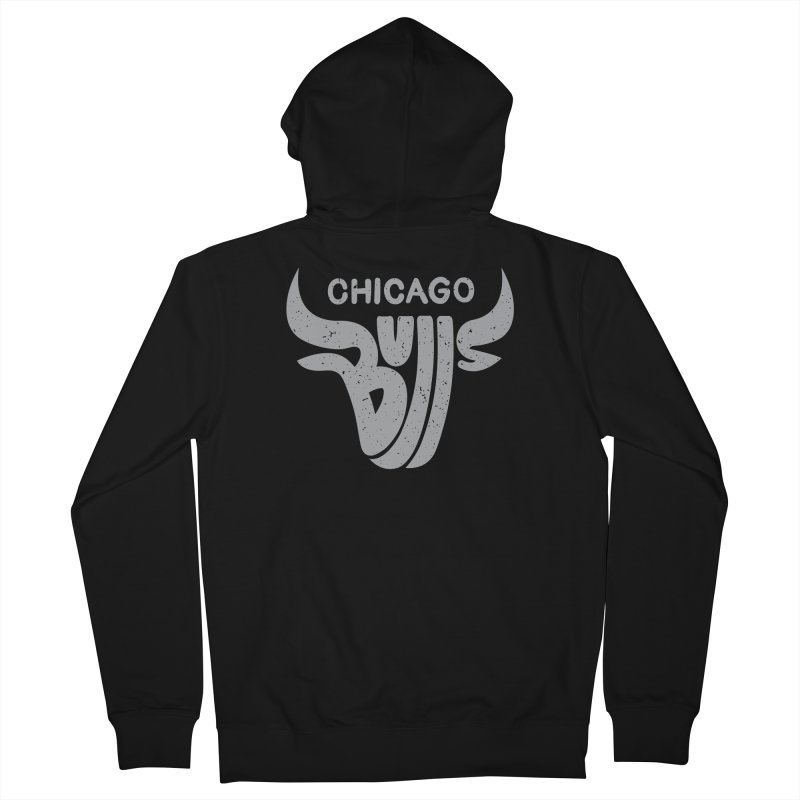 Bulls (Grey) Women's Zip-Up Hoody by 5eth's Artist Shop