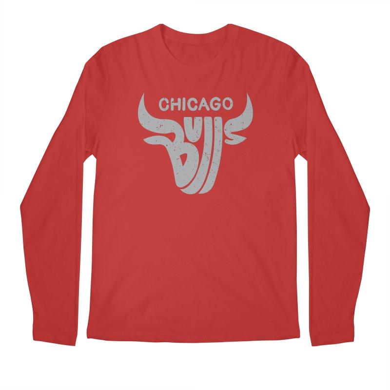 Bulls (Grey) Men's Regular Longsleeve T-Shirt by 5eth's Artist Shop