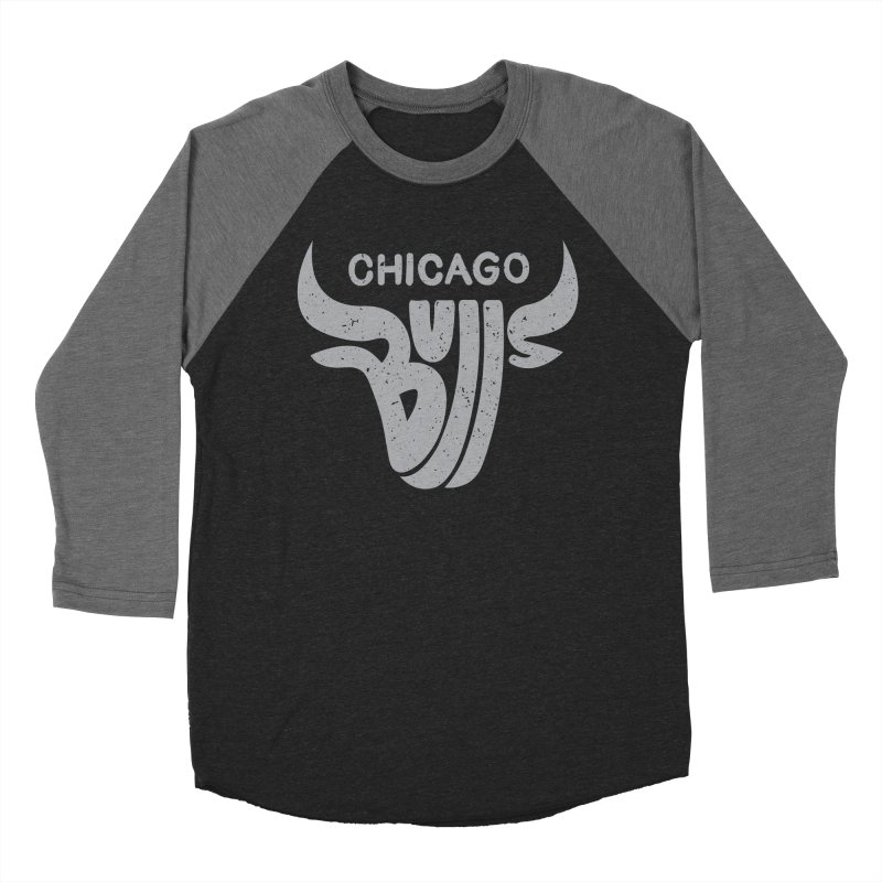 Bulls (Grey) Men's Baseball Triblend T-Shirt by 5eth's Artist Shop