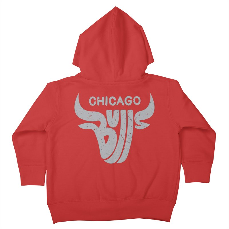 Bulls (Grey) Kids Toddler Zip-Up Hoody by 5eth's Artist Shop