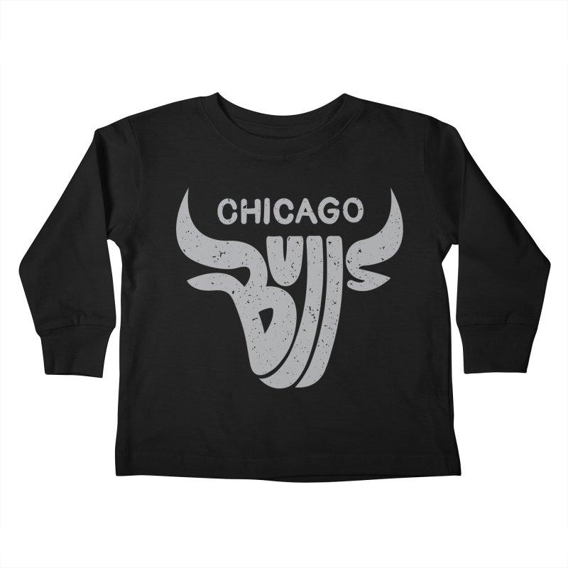 Bulls (Grey) Kids Toddler Longsleeve T-Shirt by 5eth's Artist Shop
