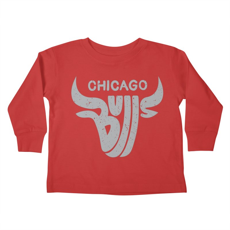 Bulls (Grey) Kids Toddler Longsleeve T-Shirt by 5eth's Artist Shop