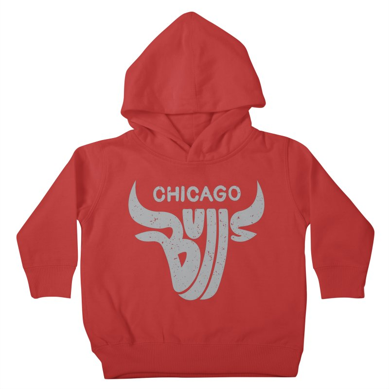 Bulls (Grey) Kids Toddler Pullover Hoody by 5eth's Artist Shop