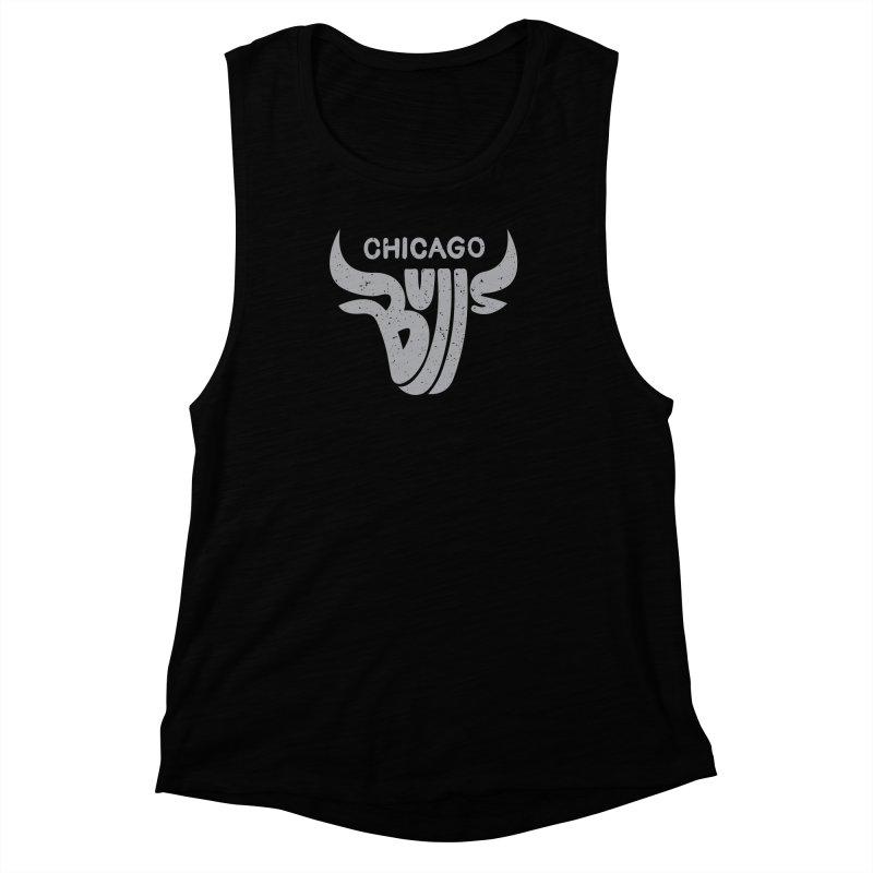 Bulls (Grey) Women's Muscle Tank by 5eth's Artist Shop