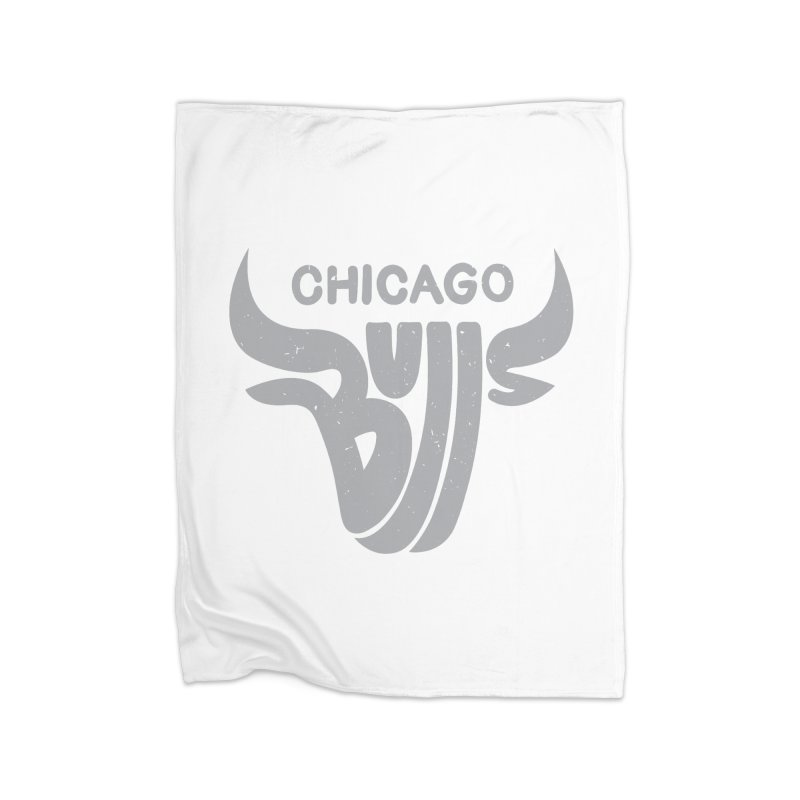 Bulls (Grey) Home Fleece Blanket by 5eth's Artist Shop