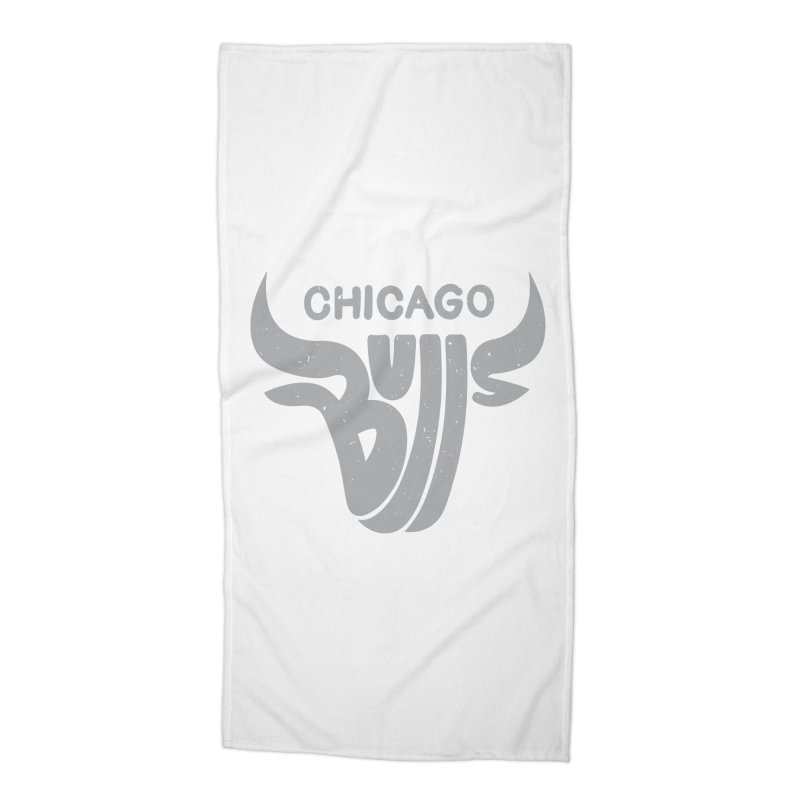 Bulls (Grey) Accessories Beach Towel by 5eth's Artist Shop