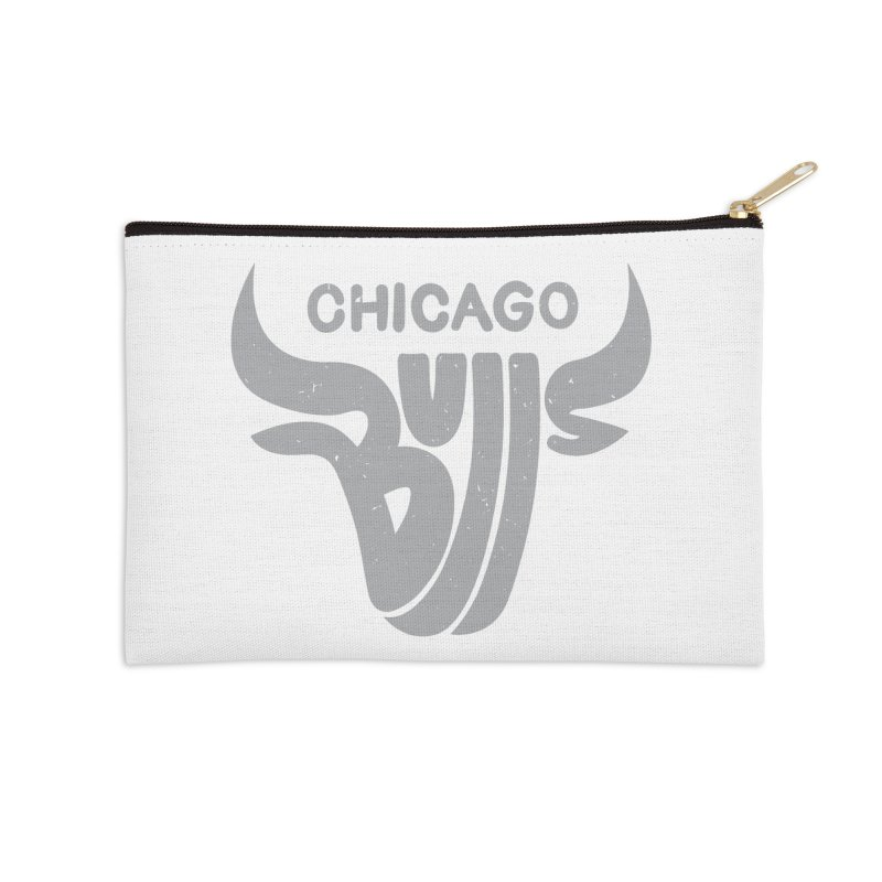 Bulls (Grey) Accessories Zip Pouch by 5eth's Artist Shop