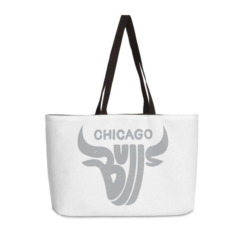 Bulls (Grey) Accessories Weekender Bag Bag by 5eth's Artist Shop