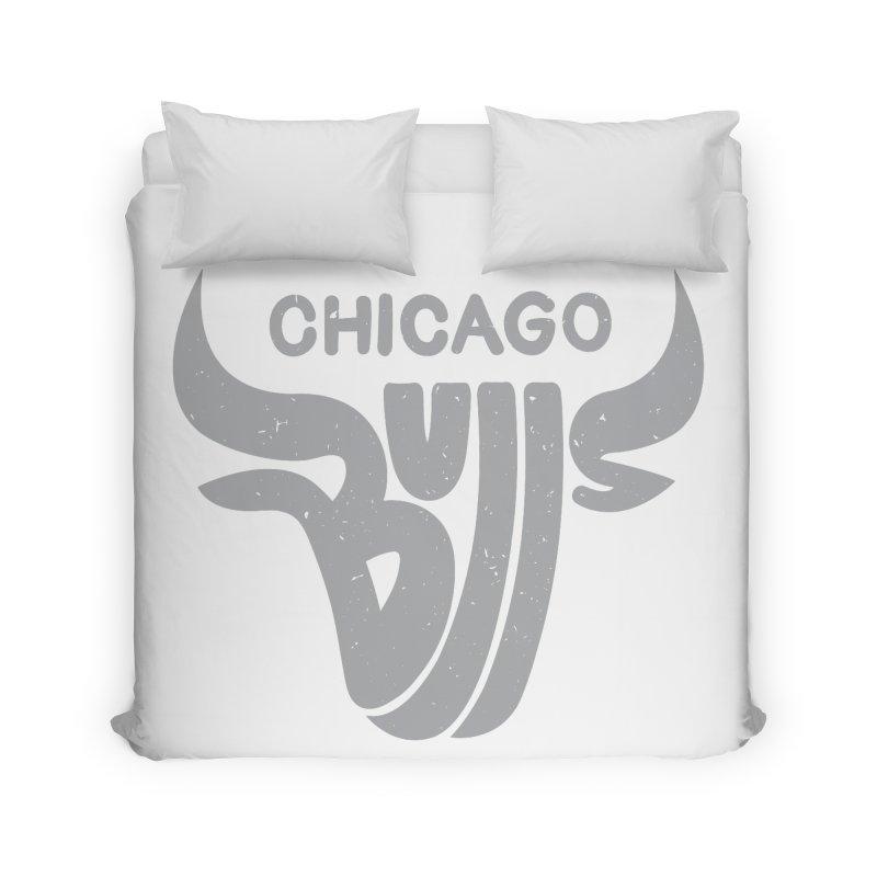 Bulls (Grey) Home Duvet by 5eth's Artist Shop