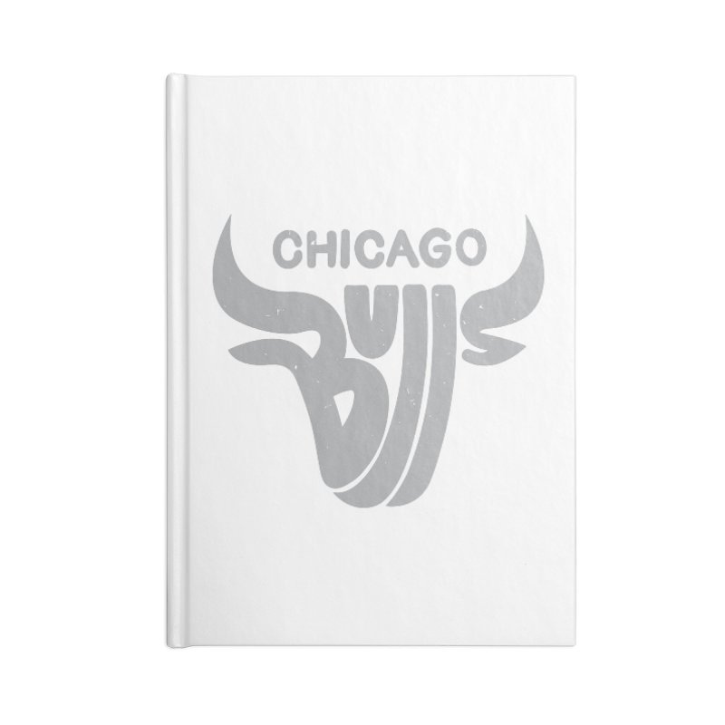 Bulls (Grey) Accessories Blank Journal Notebook by 5eth's Artist Shop