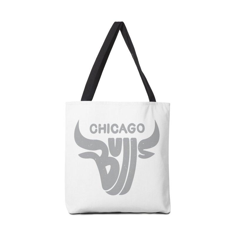 Bulls (Grey) Accessories Tote Bag Bag by 5eth's Artist Shop