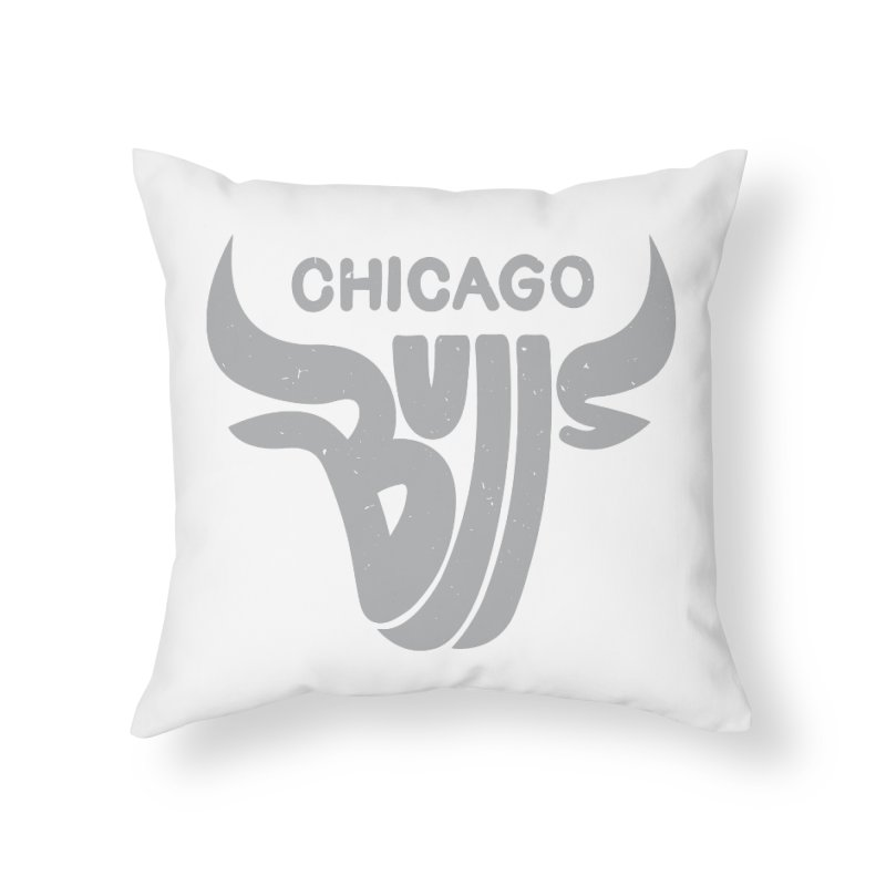 Bulls (Grey) Home Throw Pillow by 5eth's Artist Shop