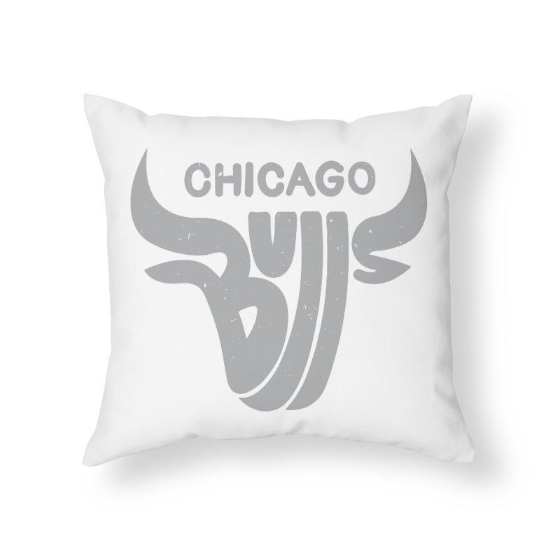 Bulls (Grey) Home Throw Pillow by 5eth's Artist Shop