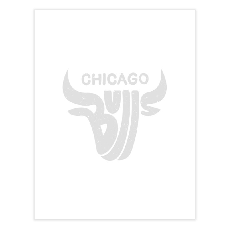 Bulls (Grey) Home Fine Art Print by 5eth's Artist Shop