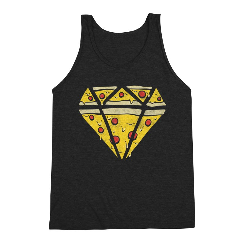 Pizzas Are Forever Men's Triblend Tank by 5eth's Artist Shop
