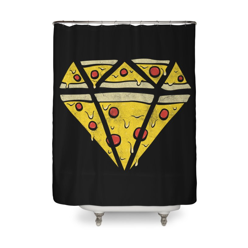 Pizzas Are Forever Home Shower Curtain by 5eth's Artist Shop