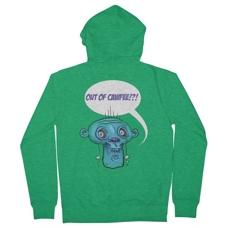 Out of Cawfee Women's Zip-Up Hoody by 600poundgorilla's Artist Shop