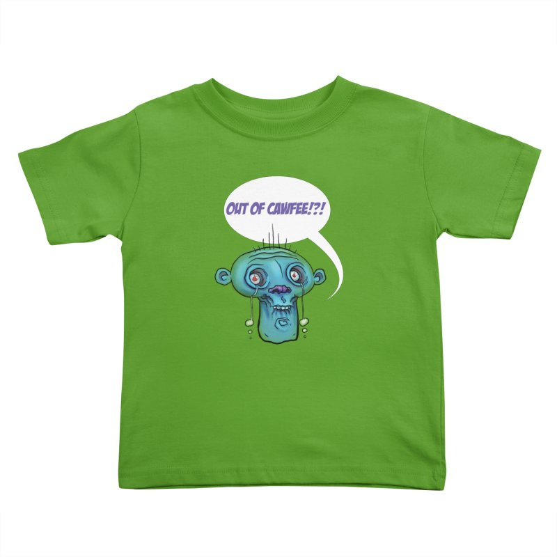 Out of Cawfee Kids Toddler T-Shirt by 600poundgorilla's Artist Shop