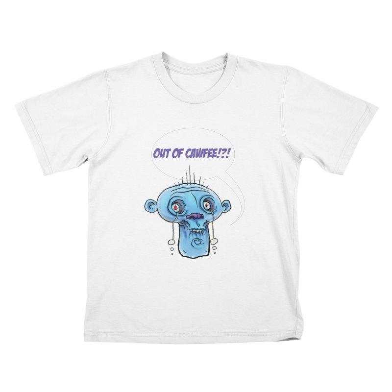 Out of Cawfee Kids T-Shirt by 600poundgorilla's Artist Shop