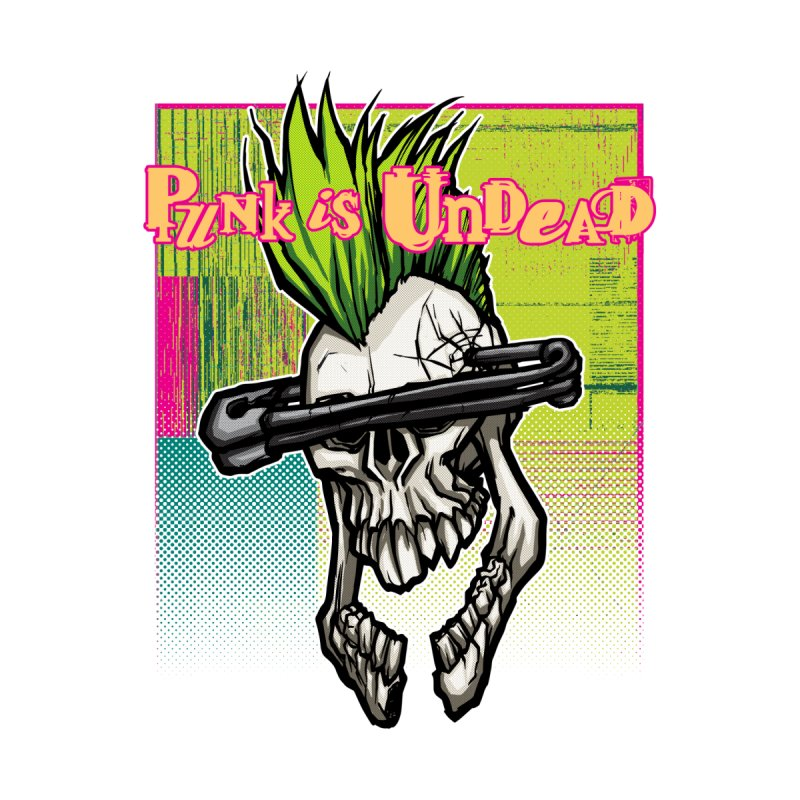 Punk is Undead Accessories Skateboard by 600poundgorilla's Artist Shop