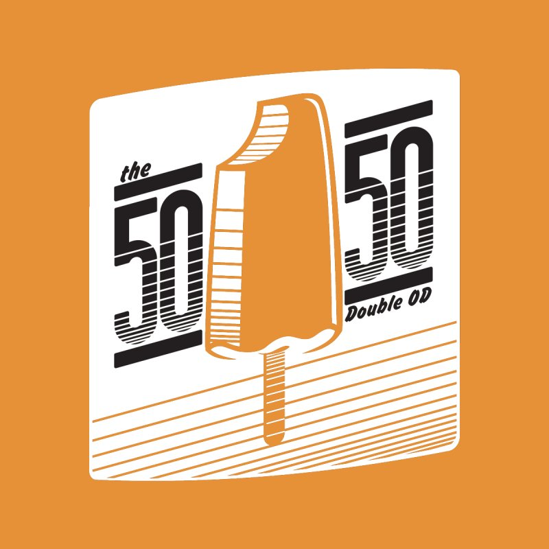 50/50 Shirt (on orange) by 60CycleHum's Merch Store