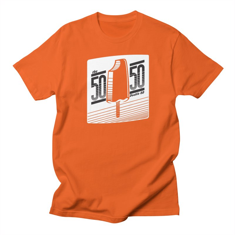 50/50 Shirt (on orange) Men's T-Shirt by 60CycleHum's Merch Store