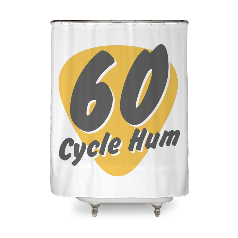 Logo on Light colors Home Shower Curtain by 60CycleHum's Merch Store