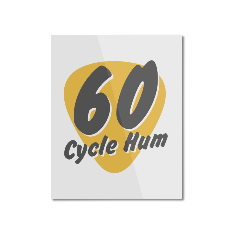 Logo on Light colors Home Mounted Aluminum Print by 60CycleHum's Merch Store