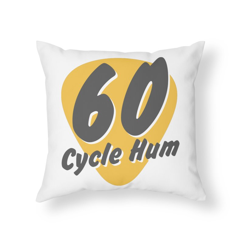 Logo on Light colors Home Throw Pillow by 60CycleHum's Merch Store