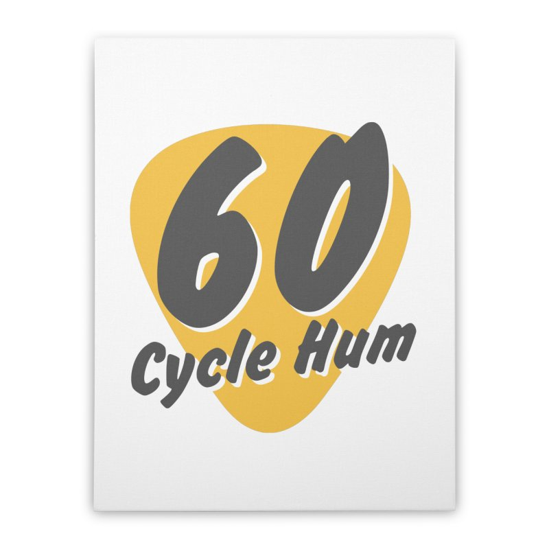 Logo on Light colors Home Stretched Canvas by 60CycleHum's Merch Store