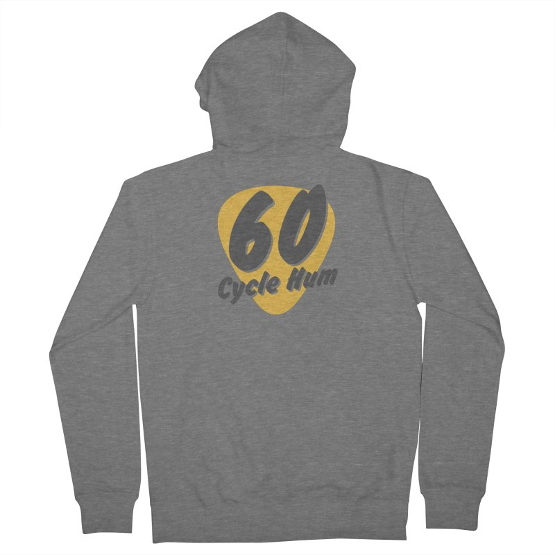 Logo on Light colors Men's Zip-Up Hoody by 60CycleHum's Merch Store