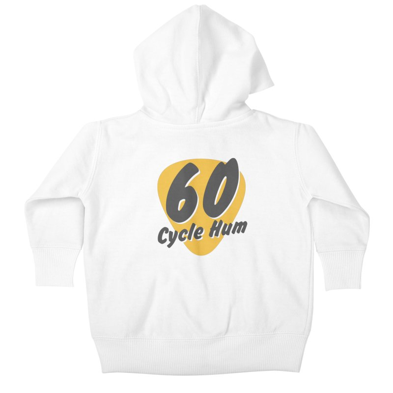 Logo on Light colors Kids Baby Zip-Up Hoody by 60CycleHum's Merch Store
