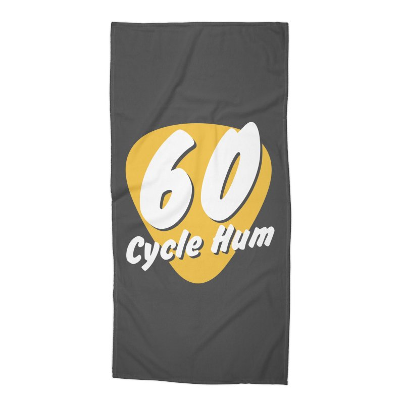 60 Cycle Hum Logo Accessories Beach Towel by 60CycleHum's Merch Store