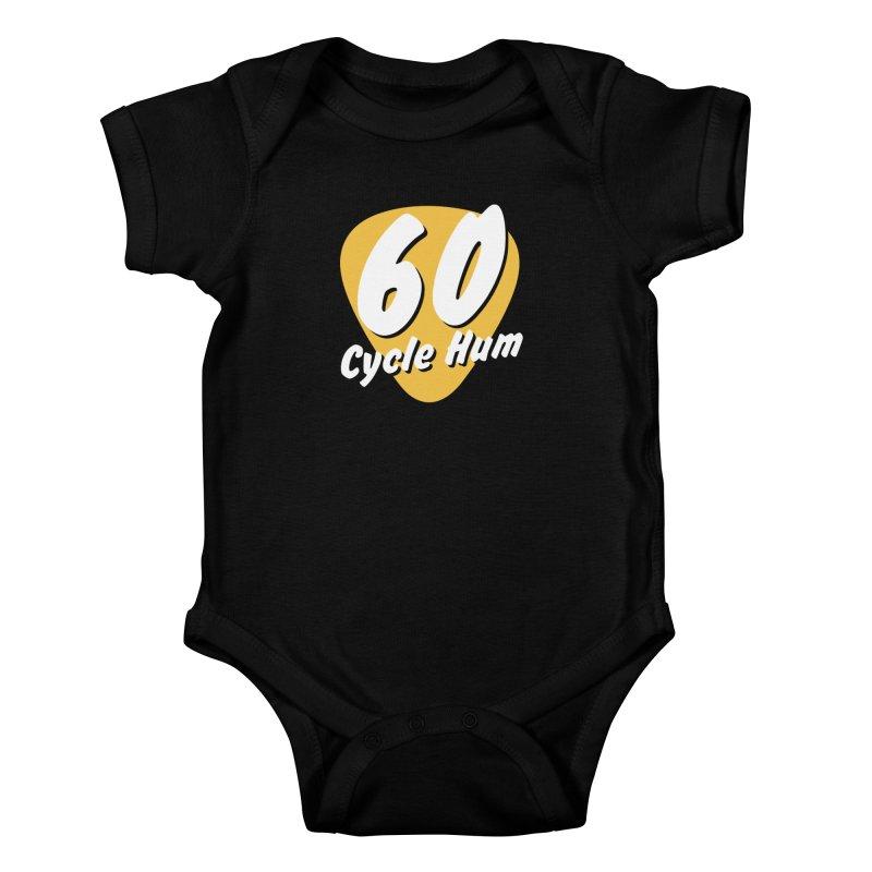 60 Cycle Hum Logo Kids Baby Bodysuit by 60CycleHum's Merch Store