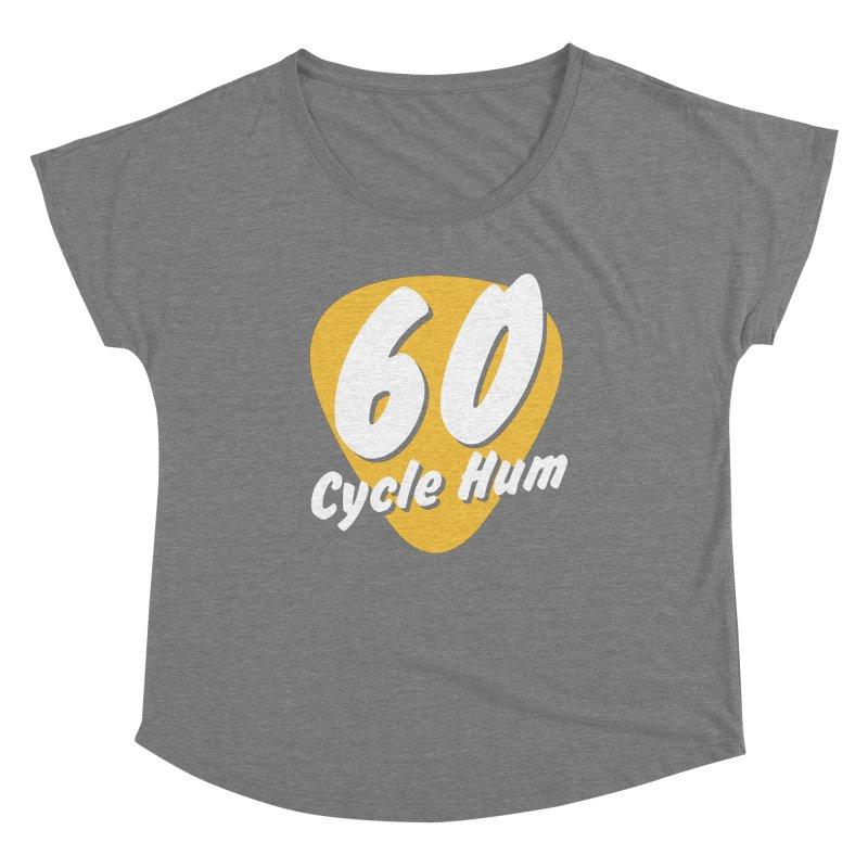 60 Cycle Hum Logo Women's Scoop Neck by 60CycleHum's Merch Store