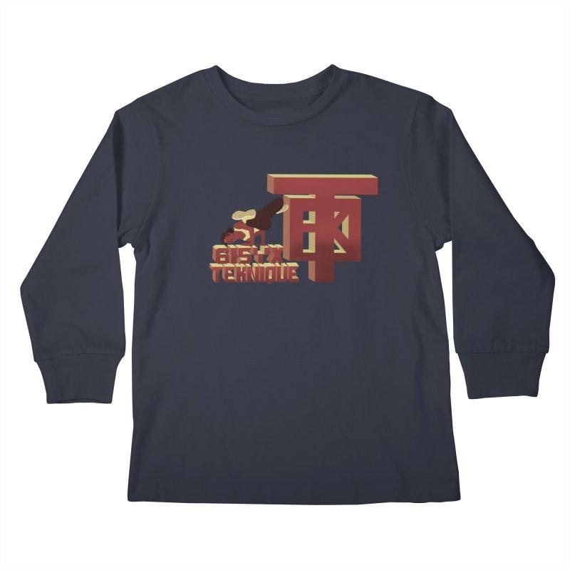 SlickTekDude Kids Longsleeve T-Shirt by 61syx's Artist Shop