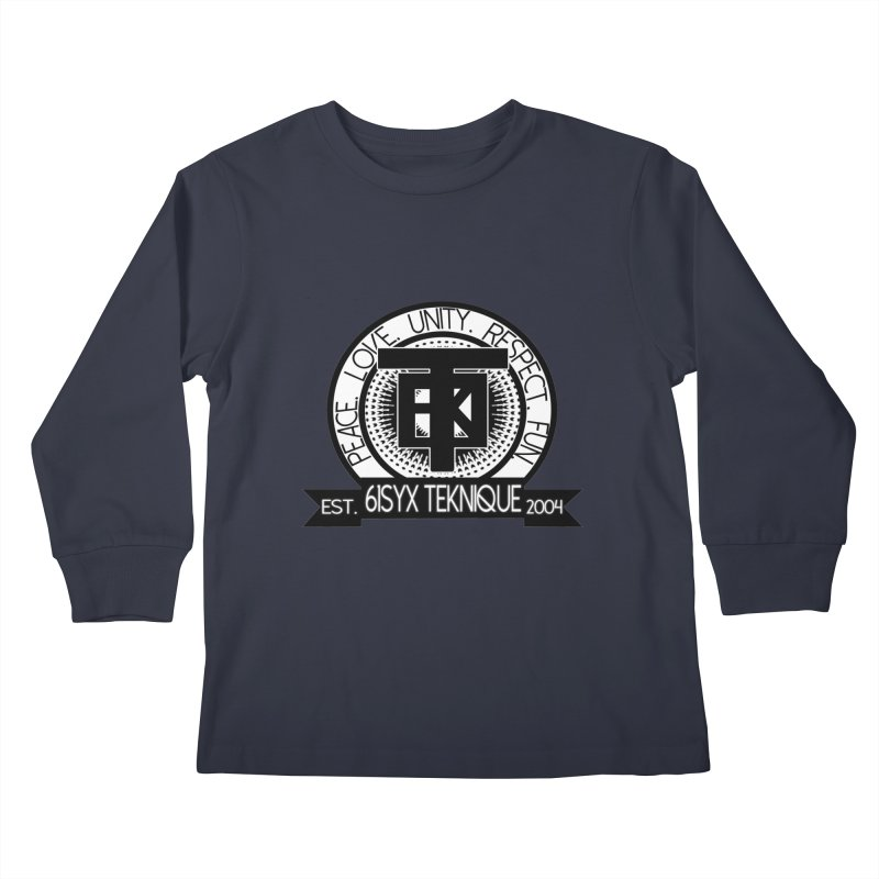 61Syx Logo Kids Longsleeve T-Shirt by 61syx's Artist Shop