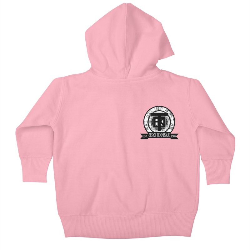 61Syx Logo Pocket Piece Kids Baby Zip-Up Hoody by 61syx's Artist Shop