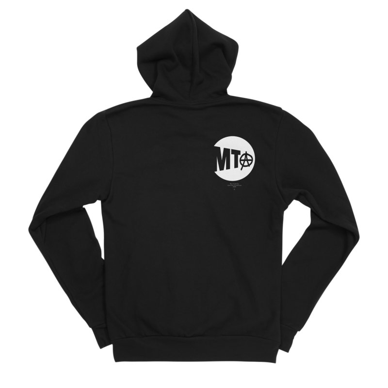 Anarchy at the MTA Men's Zip-Up Hoody by 691NYC