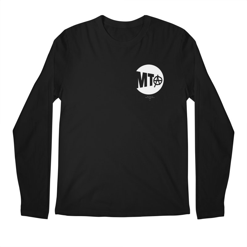 Anarchy at the MTA Men's Longsleeve T-Shirt by 691NYC